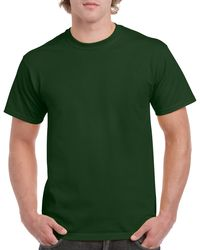 Gildan Men+39s Classic Short Sleeve T Shirt Forest Green