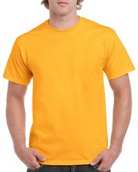 Gildan Men+39s Classic Short Sleeve T Shirt Gold