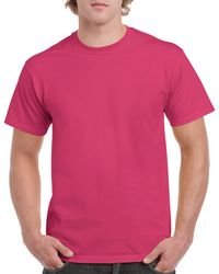 Gildan Men+39s Classic Short Sleeve T Shirt Heliconia