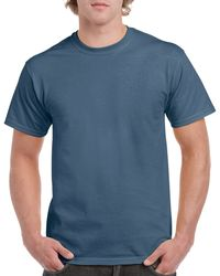 Gildan Men+39s Classic Short Sleeve T Shirt Indigo Blue