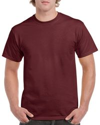 Gildan Men+39s Classic Short Sleeve T Shirt Maroon