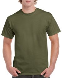 Gildan Men+39s Classic Short Sleeve T Shirt Military Green