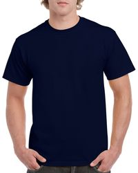 Gildan Men+39s Classic Short Sleeve T Shirt Navy