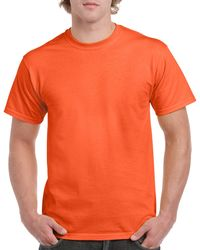 Gildan Men+39s Classic Short Sleeve T Shirt Orange
