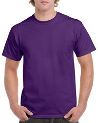 Gildan Men+39s Classic Short Sleeve T Shirt Purple