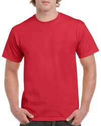 Gildan Men+39s Classic Short Sleeve T Shirt Red