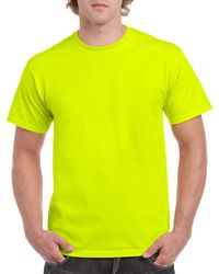 Gildan Men+39s Classic Short Sleeve T Shirt Safety Green
