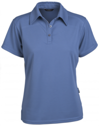 Glacier Ladies SS Polo Dusty Blue