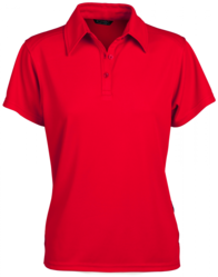 Glacier Ladies SS Polo Red
