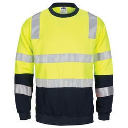 HIVIS 2 Tone, Crew-neck Fleecy Sweat Shirt