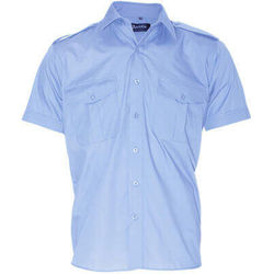Heavy Duty Security Epaulette Shirt Short Sleeve Blue
