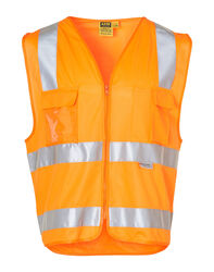 HiVis Safety Vest with ID Pocket and 3M Tape Orange