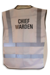 Hi Vis Chief Warden Vest Rear Print Only Two Line