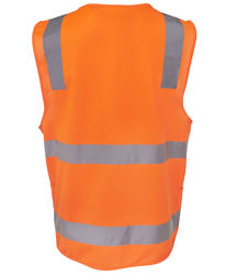Hi Vis D+N Zip Safety Vest Orange