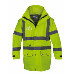 Hi Vis Jacket with Epaulettes - Windproof, breathable,waterproof (Gore-Tex spec)