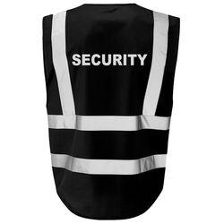 Hi Vis Superior Vest Security Black Rear