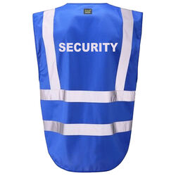 Hi Vis Superior Vest Security Blue Rear