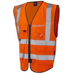 Hi Vis Superior Vest Security Orange