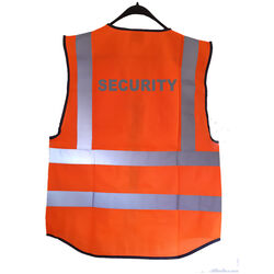 Hi Vis Superior Vest Security Orange Rear