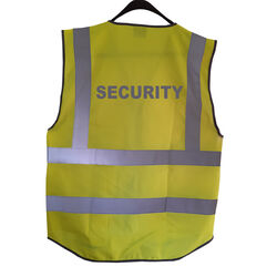 Hi Vis Superior Vest Security Rear Yellow