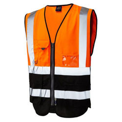 Hi Vis Superior Vest Two Tone Orange/Black