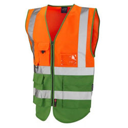 Hi Vis Superior Vest Two Tone Orange/Green