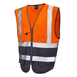 Hi Vis Superior Vest Two Tone Orange/Navy
