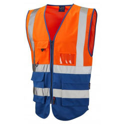 Hi Vis Superior Vest Two Tone Orange/Royal