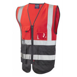 Hi Vis Superior Vest Two Tone Red/Grey