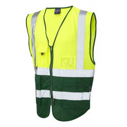 Hi Vis Superior Vest Two Tone Yellow/Bottle