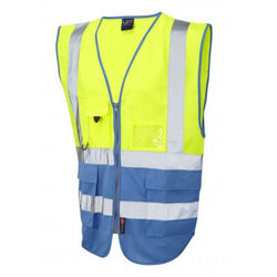 Hi Vis Superior Vest Two Tone Yellow/Deep Sky