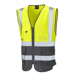 Hi Vis Superior Vest Two Tone YellowGrey