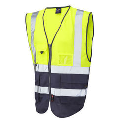 Hi Vis Superior Vest Two Tone Yellow/Navy