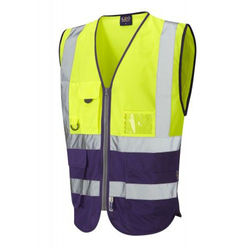 Hi Vis Superior Vest Two Tone Yellow/Purple