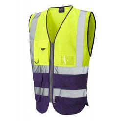 Hi Vis Superior Vest Two Tone Yellow/Purple