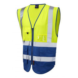 Hi Vis Superior Vest Two Tone Yellow/Royal
