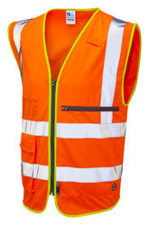Hi Vis Superior Waistcoat with Tablet Pocket Orange
