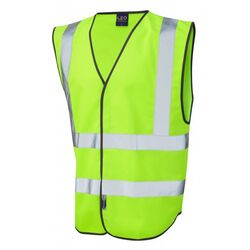 Hi Vis Warden Vest Rear Print Lime