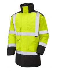 Hi Visibility Warm Quilt Lined Jacket Yellow/Black
