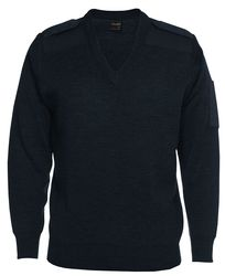 Knitted Epaulette Jumper Navy
