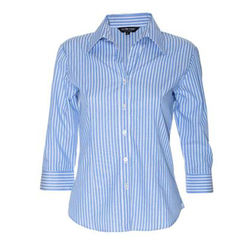 Ladies Bengal Stripe Shirt 3/4 Sleeves