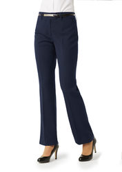 Ladies Classic Flat Front Pant Navy