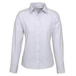 Ladies Long Sleeve Ambassador Shirt Silver Grey