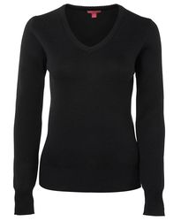 Ladies Wool Mix Jumper Black