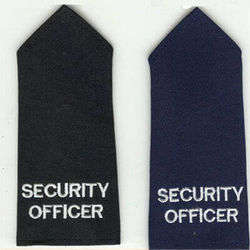 Epaulette - Embroidered SECURITY OFFICER