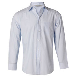Men+039s Fine Stripe Long Sleeve Shirt Pale Blue