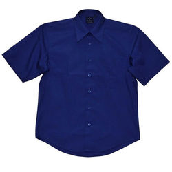 Men'sTeflon Executive Short Sleeve Shirt Royal