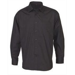 Men's Business Long Sleeve Shirt Black