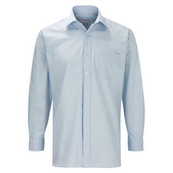 Men's Business Long Sleeve Shirt Light Blue