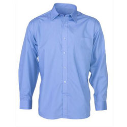 Men's Business Long Sleeve Shirt Mid Blue